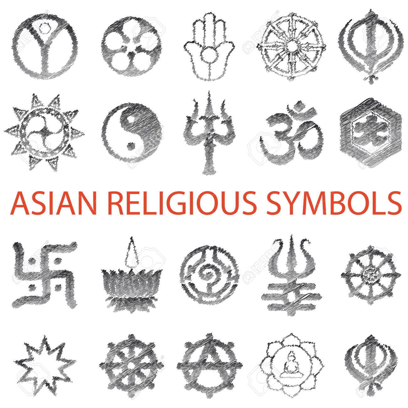 Set of asian symbols pencil scribble royalty free cliparts set of asian symbols pencil scribble stock vector 7167025 biocorpaavc