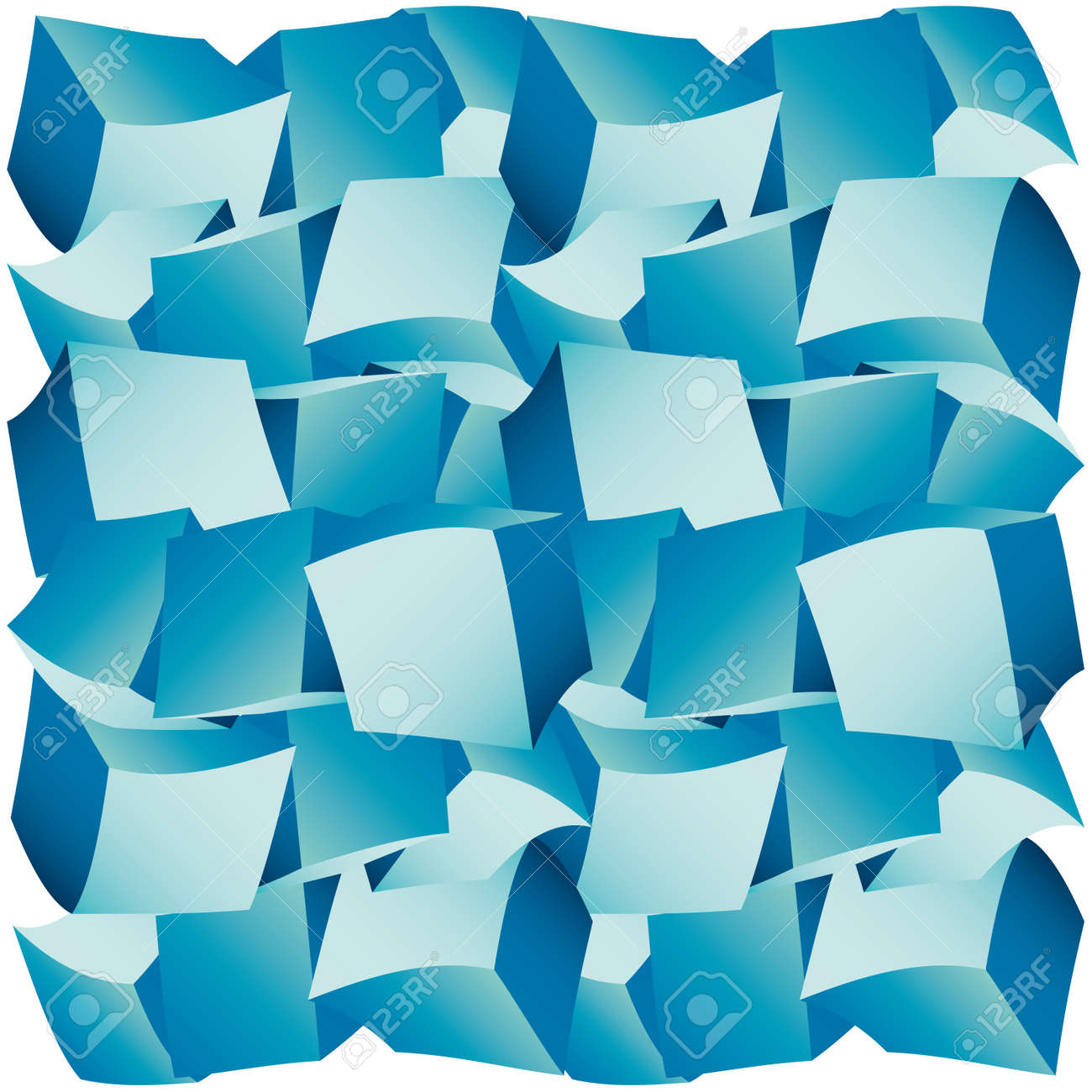 3d composition of cubes illustration Stock Vector - 7238000