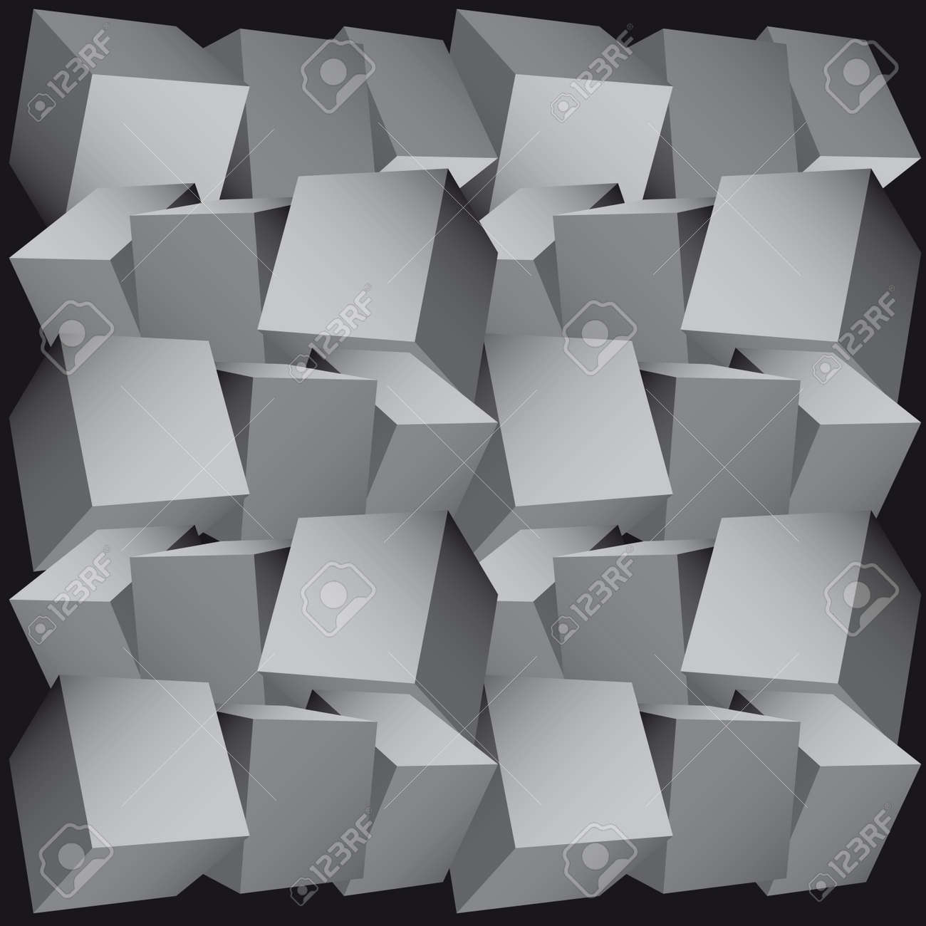 3d composition of cubes  illustration Stock Vector - 7270085