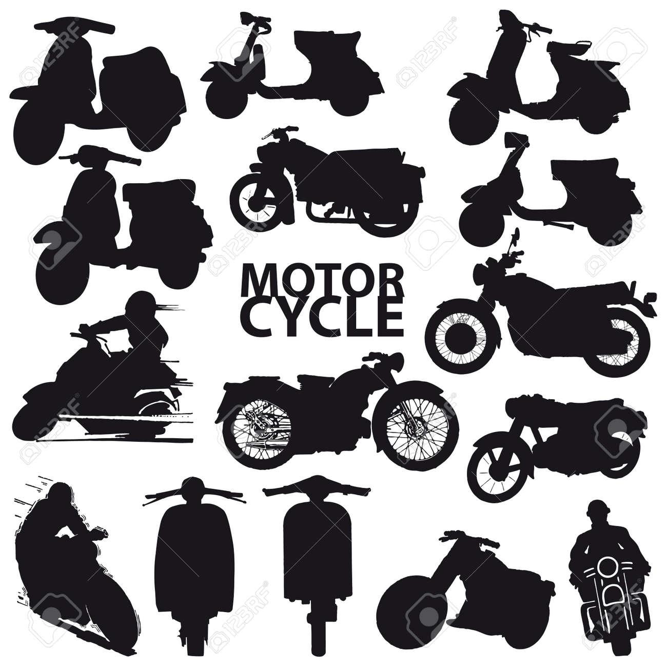 set of motorcycle Stock Vector - 7633499