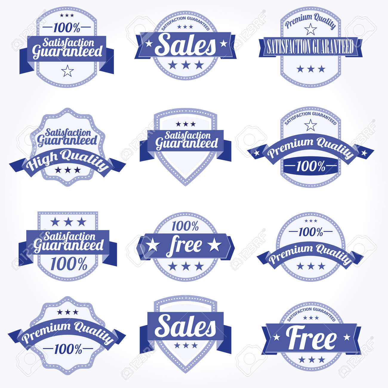Premium high Quality sales free Labels with retro design Stock Vector - 11023847