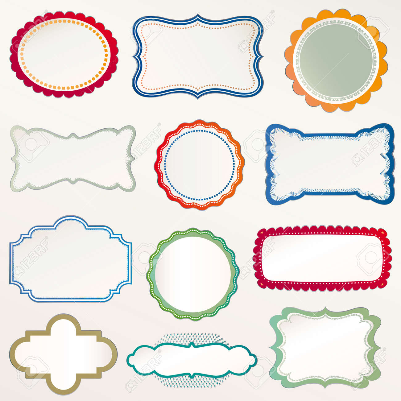 Vector Frame Set Ornamental Vintage Decoration Royalty Free Cliparts ...