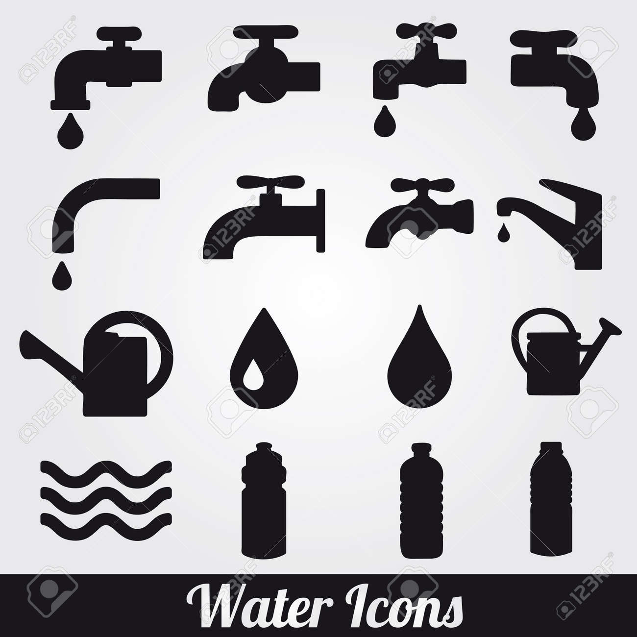 Water related icons set. - 20229682