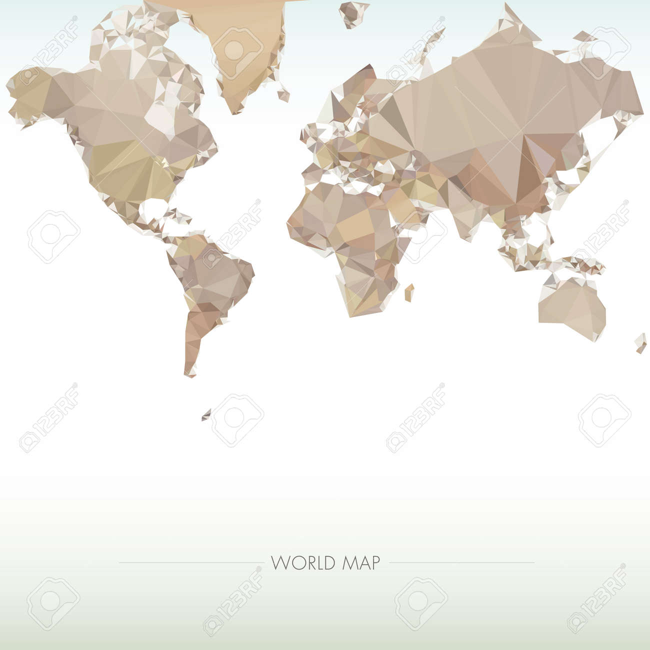 Earth World Map. Low Poly Vector Illustration Stock Vector   38167873
