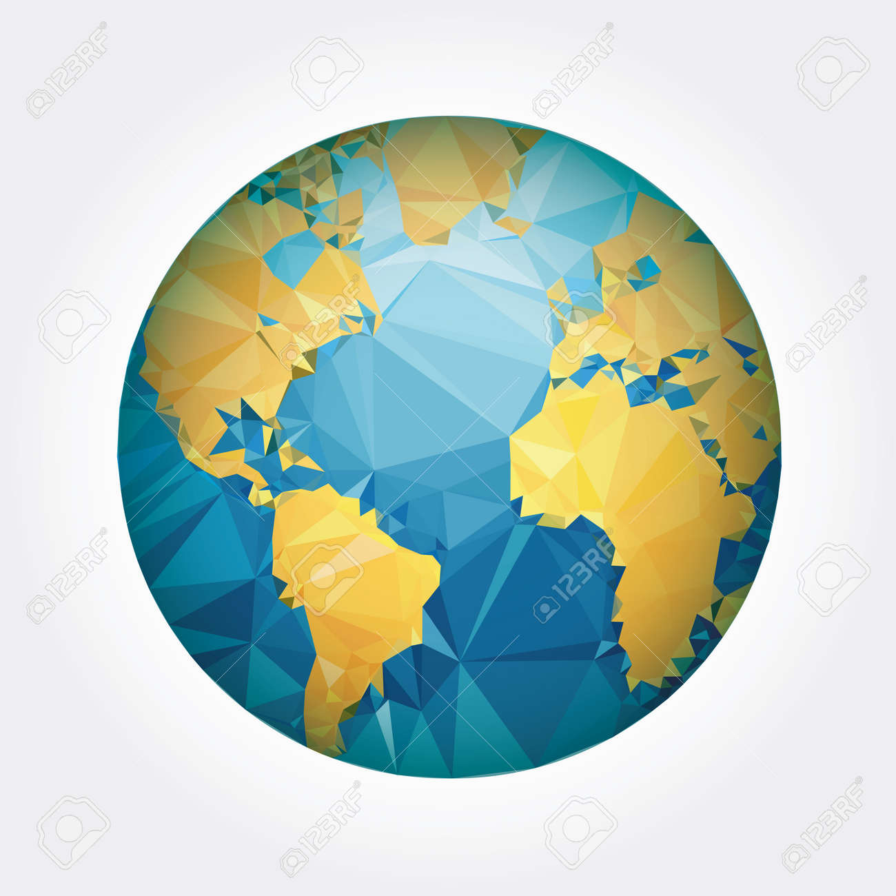 Earth world map low poly vector illustration royalty free cliparts earth world map low poly vector illustration stock vector 38662479 gumiabroncs Images
