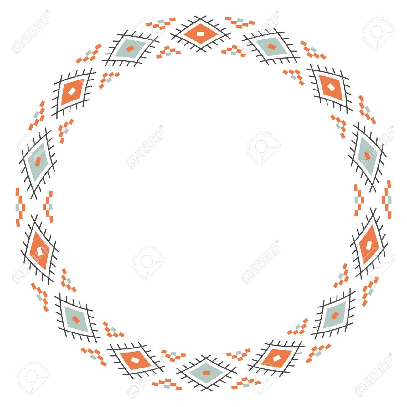 6435b43f9 Tribal Native Ethnic Border Rounder Design Royalty Free Cliparts ...