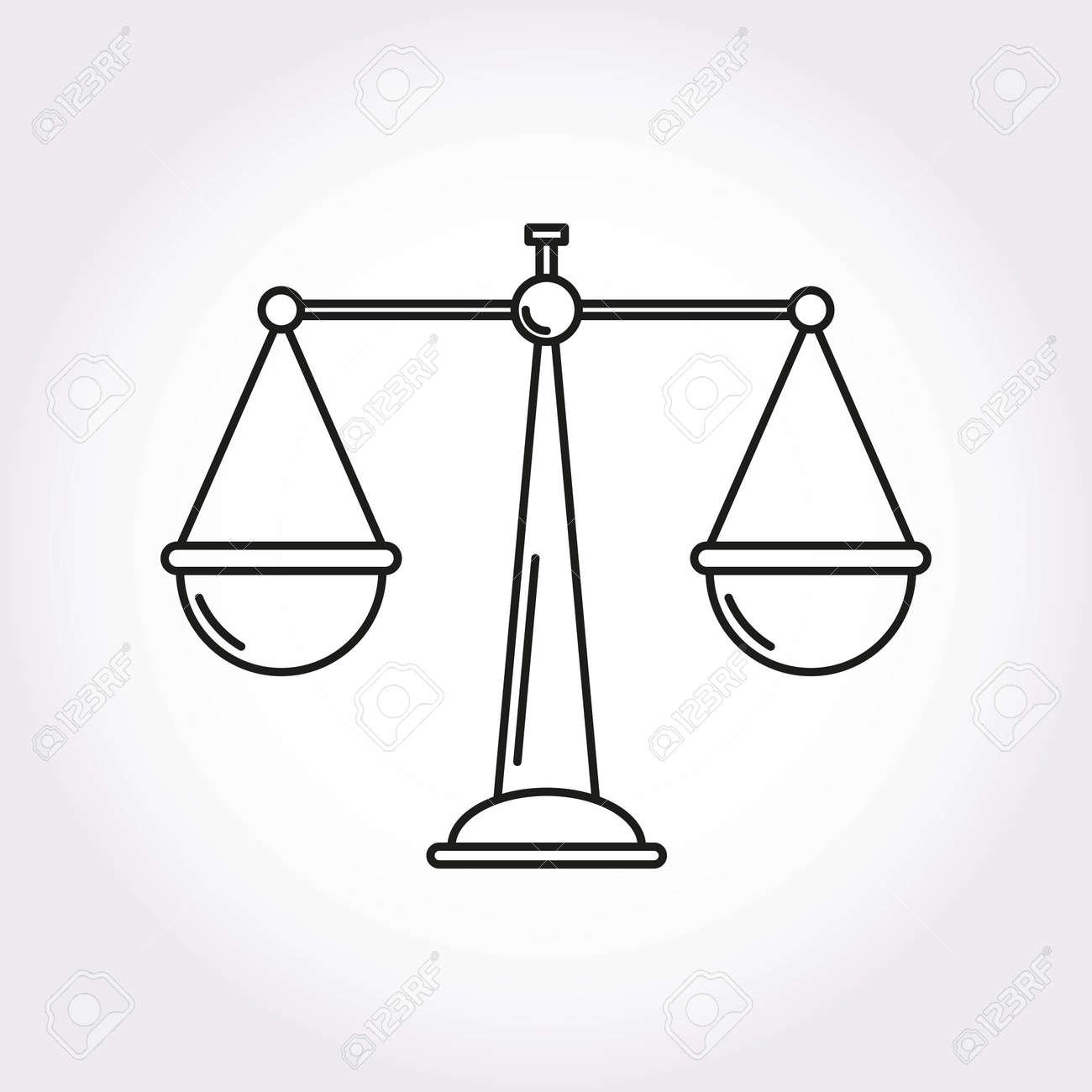 Balance Justice libra balance justice modern style icon symbol royalty free cliparts