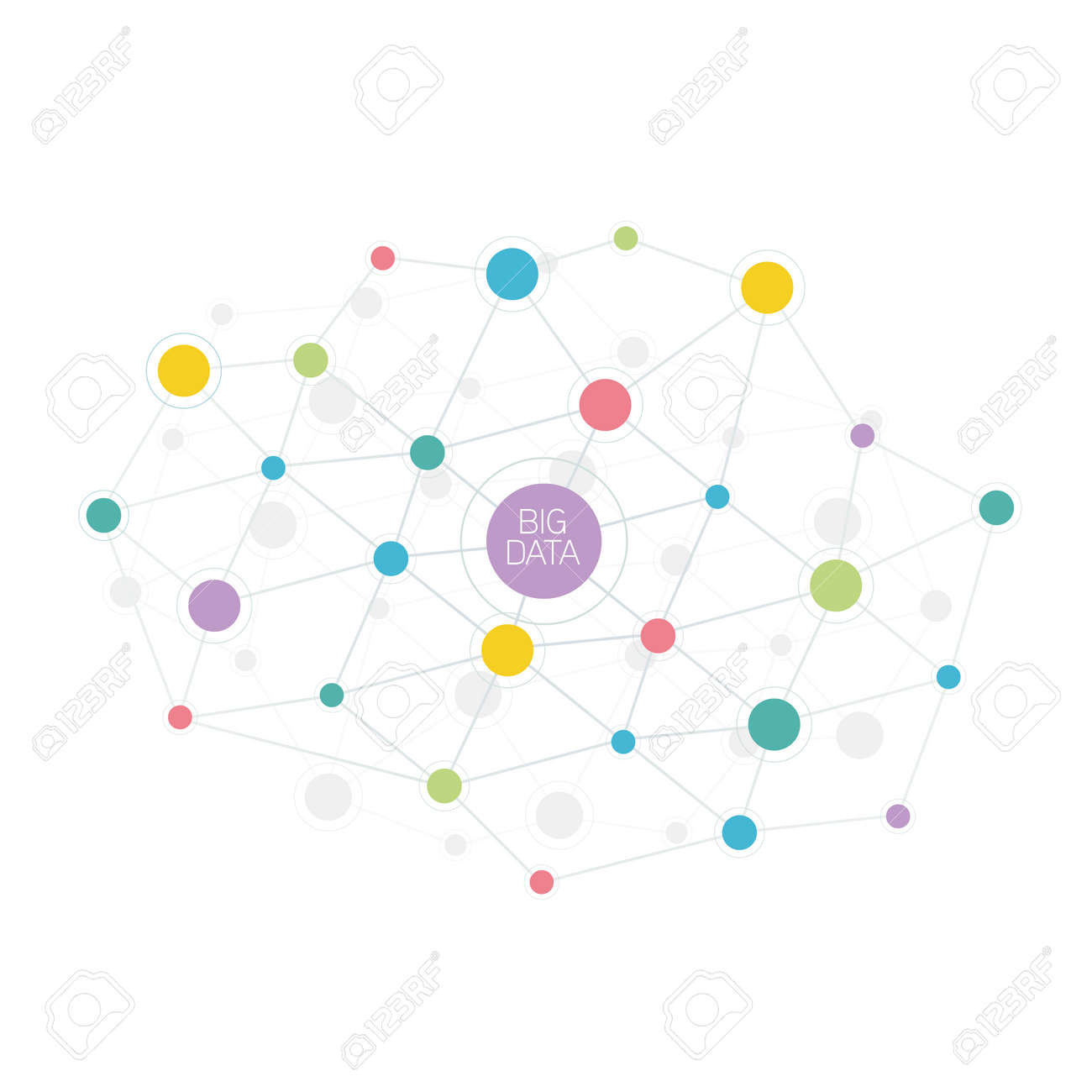 Big data abstract molecule illustration - 66768075