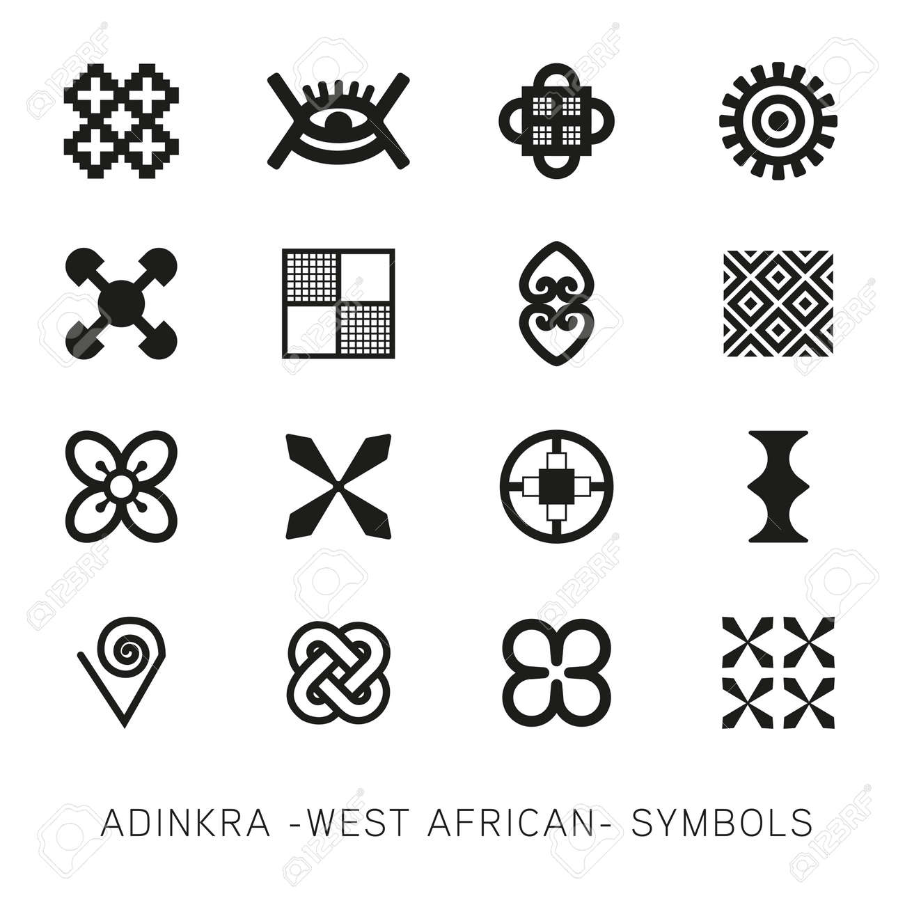 Set of akan and adinkra west african symbols royalty free cliparts set of akan and adinkra west african symbols stock vector 74291374 biocorpaavc Image collections