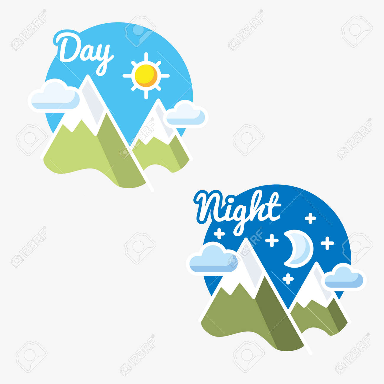 Day and night sun moon symbol illustration royalty free cliparts day and night sun moon symbol illustration stock vector 80193749 biocorpaavc Images