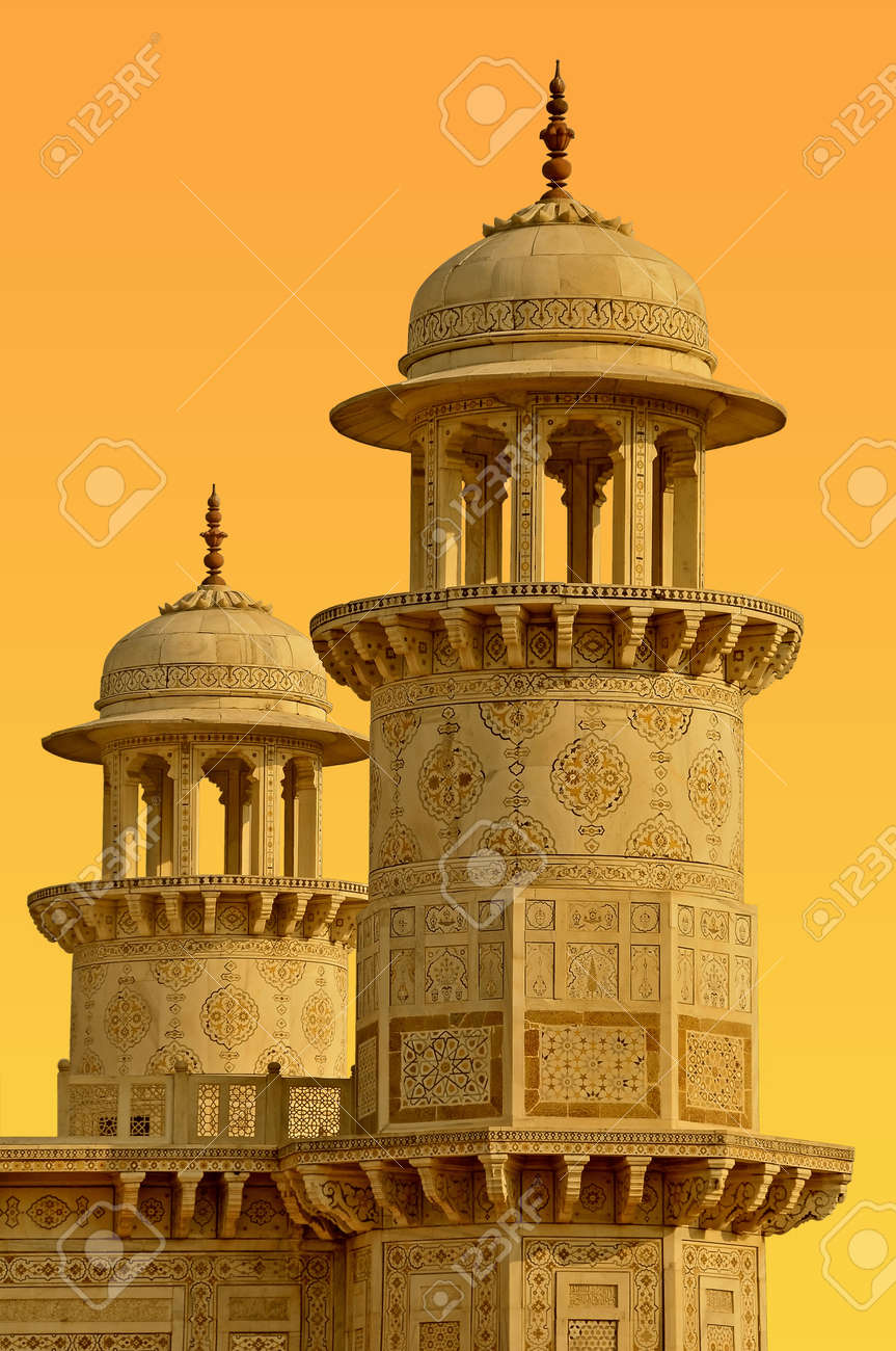 Towers in the old town of Agra, India. Stock Photo - 9284450