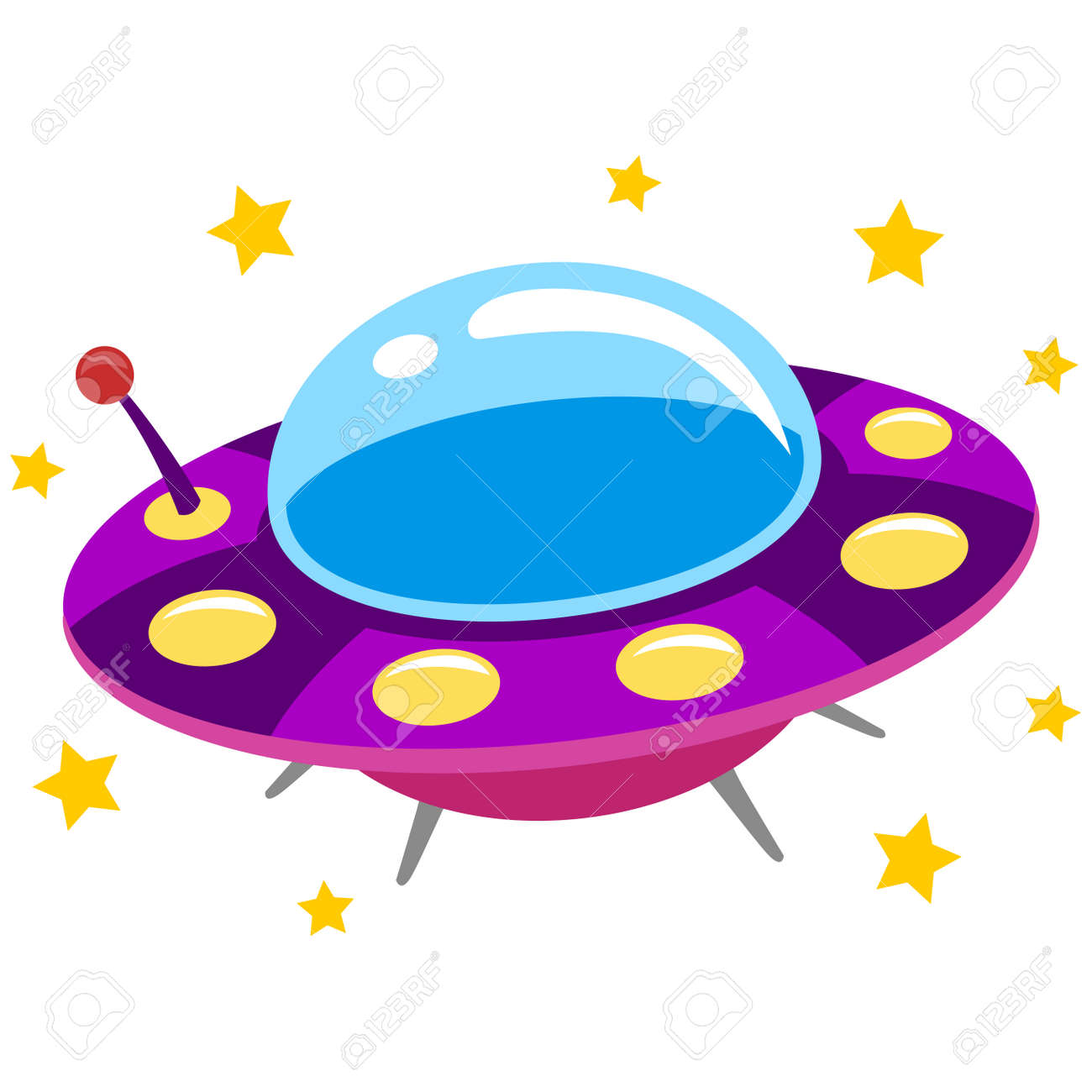 vector illustration of spaceship ufo and flying saucer royalty free rh 123rf com Fly Clip Art free flying saucer clipart