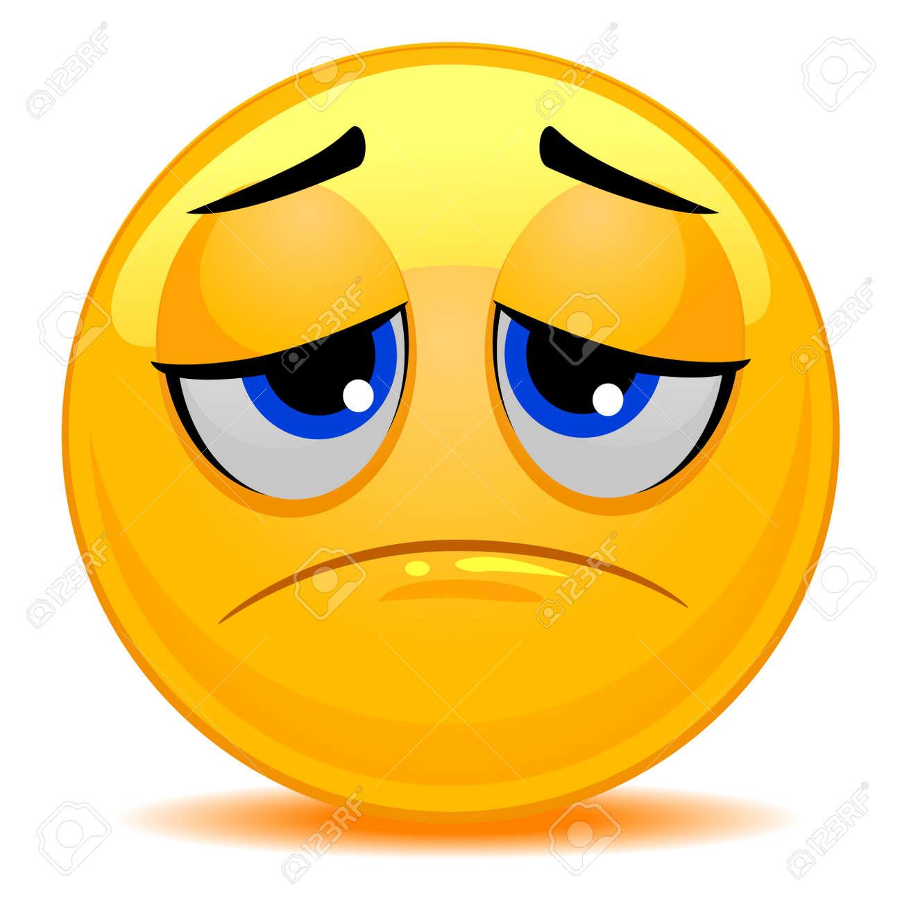 スマイリー絵文字悲しい顔のベクトル イラストのイラスト素材ベクタ