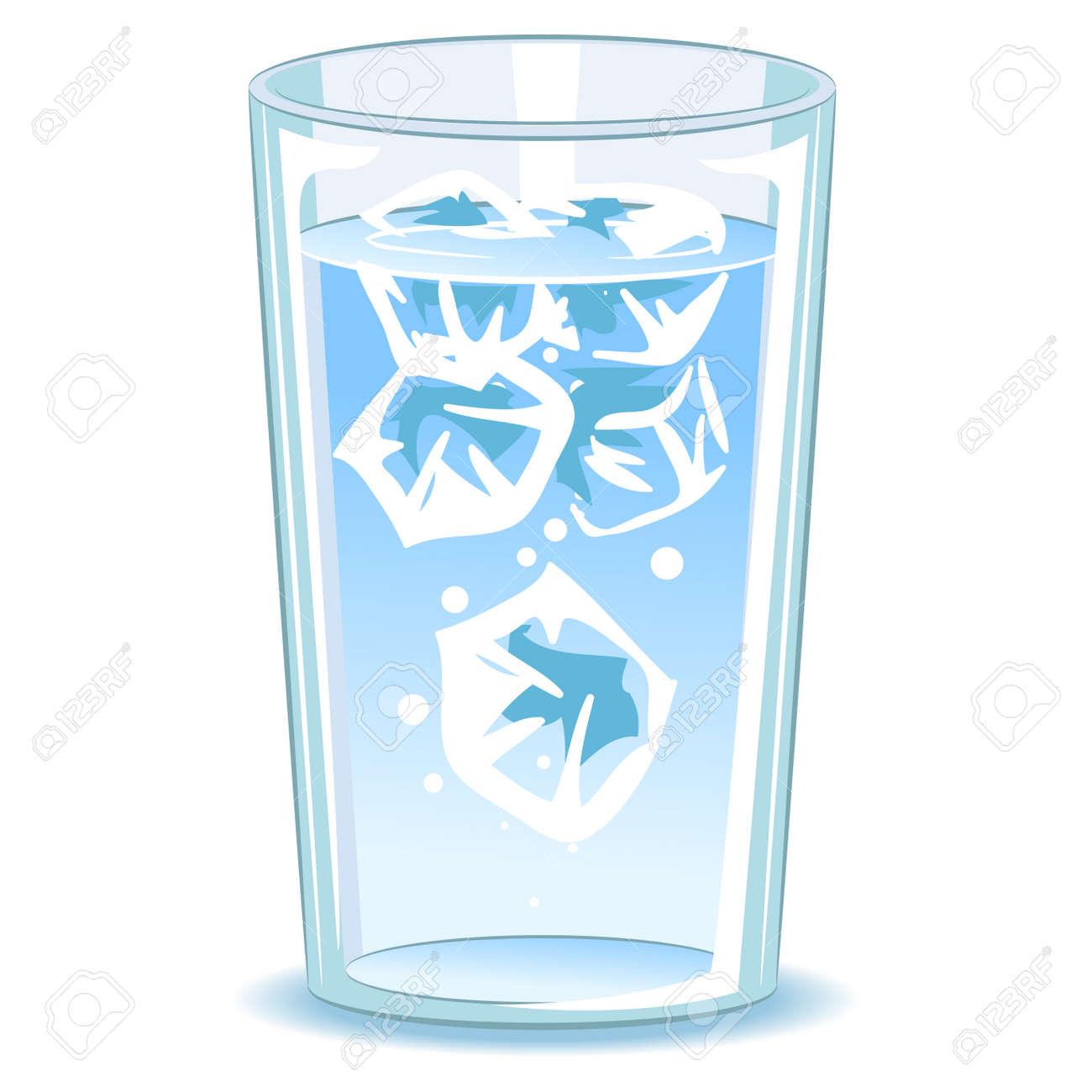 vaso agua animado