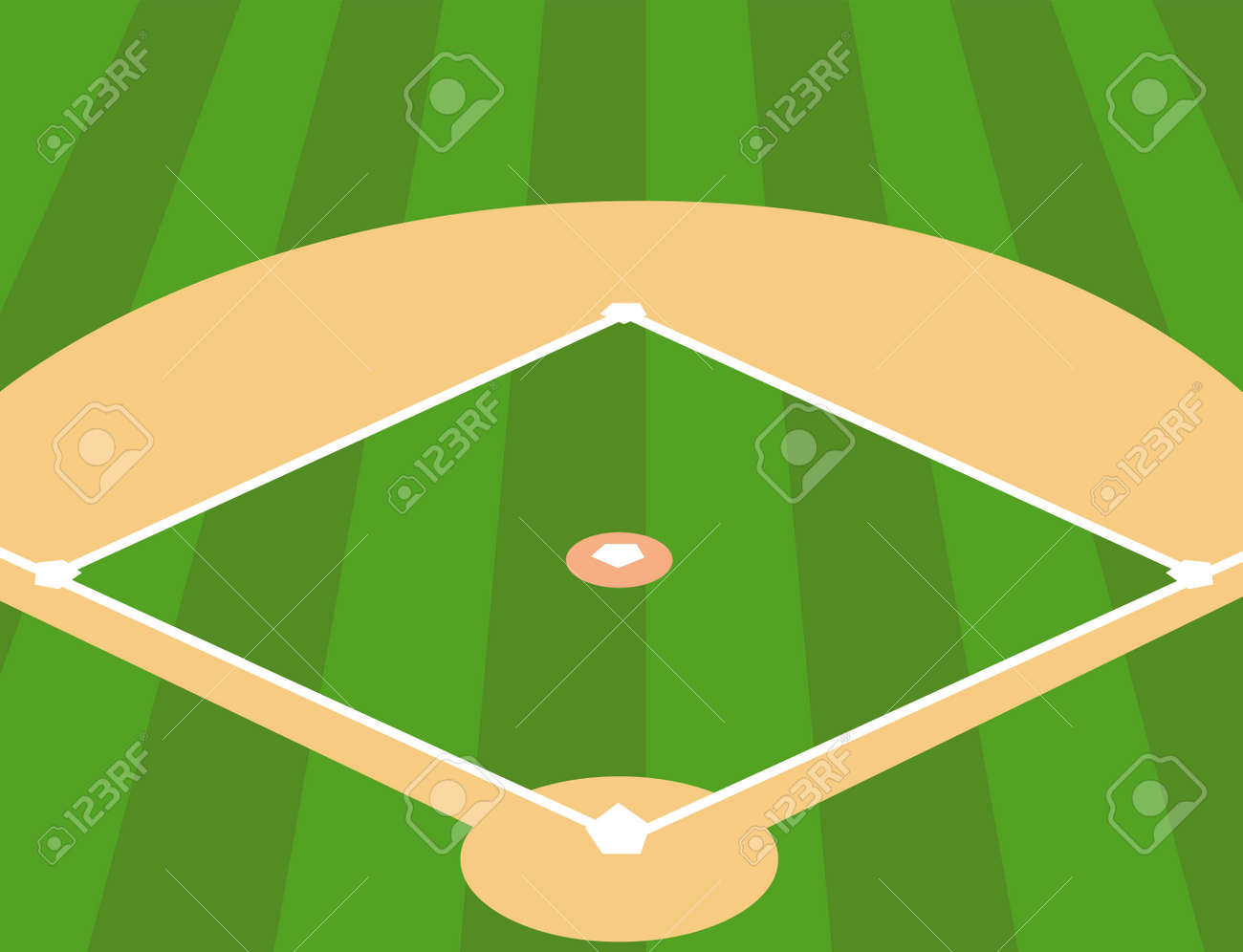 vector illustration of baseball field as background royalty free rh 123rf com Baseball Bat Vector baseball field vector image