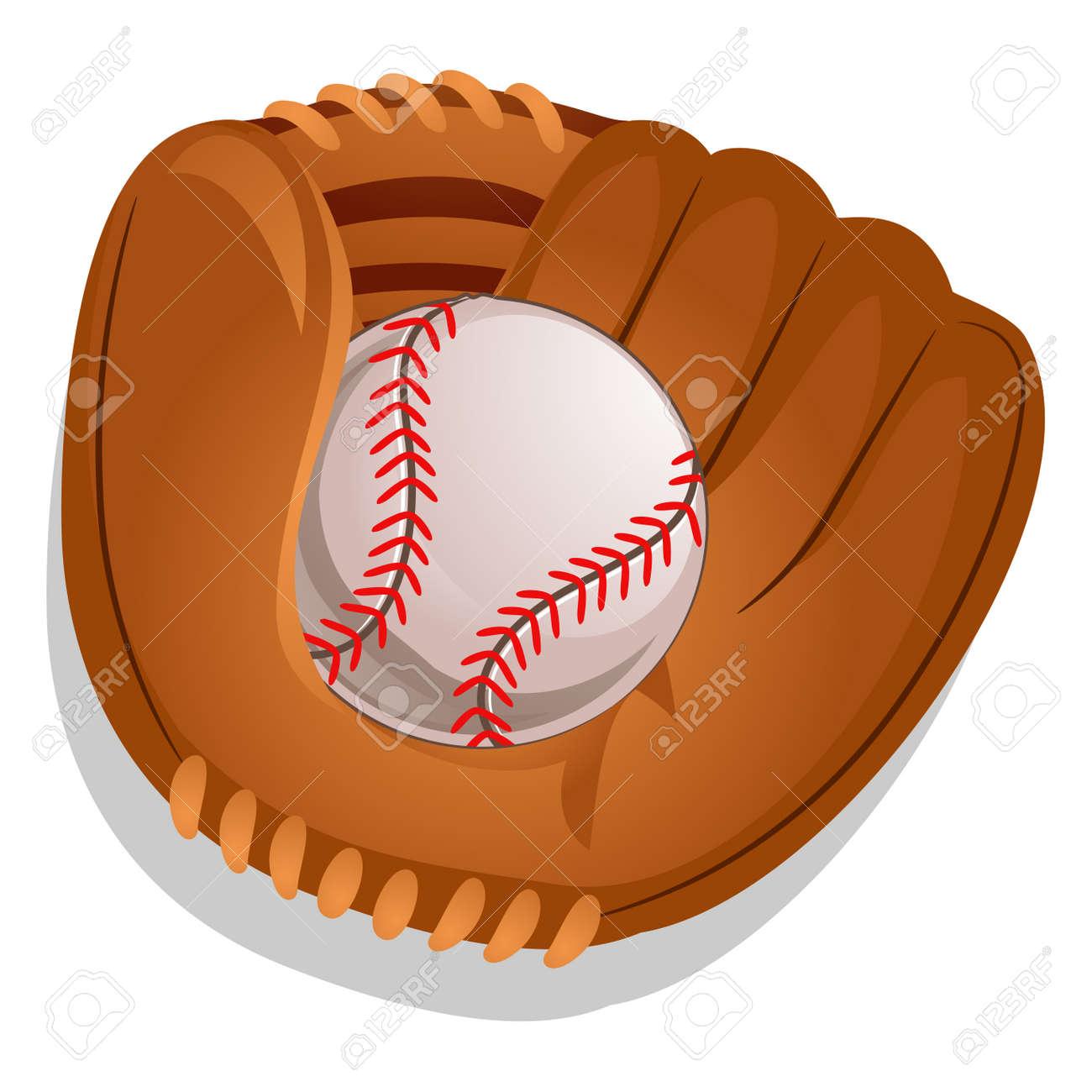 ad1dab2ffbb Vector illustration of baseball gloves with ball royalty free jpg 1300x1300 Baseball  gloves ball