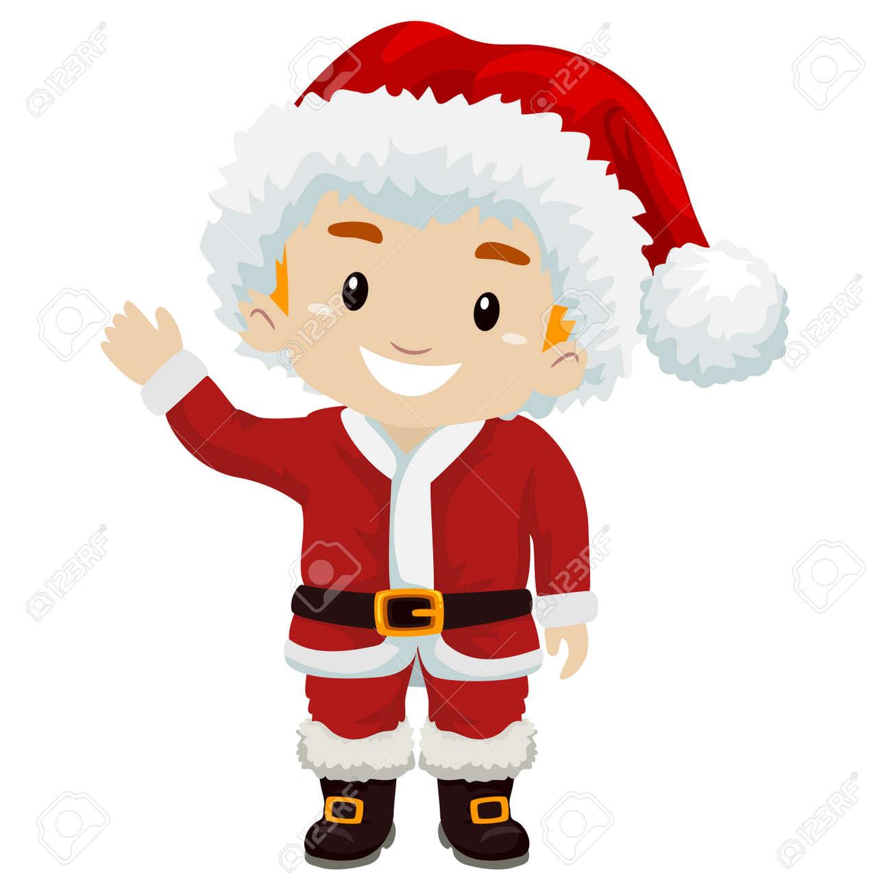 Claus Porto Nederland.Illustration Of Kid Boy Wearing Santa Claus Costume