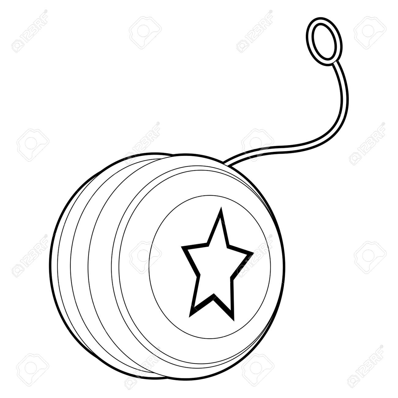Coloring Book Outlined Yo Yo Royalty Free Cliparts, Vectors, And ... for Clipart Yoyo  156eri