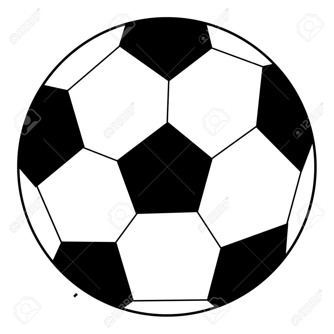 Färbung Buch Umrissen Fußball Lizenzfrei Nutzbare Vektorgrafiken ...