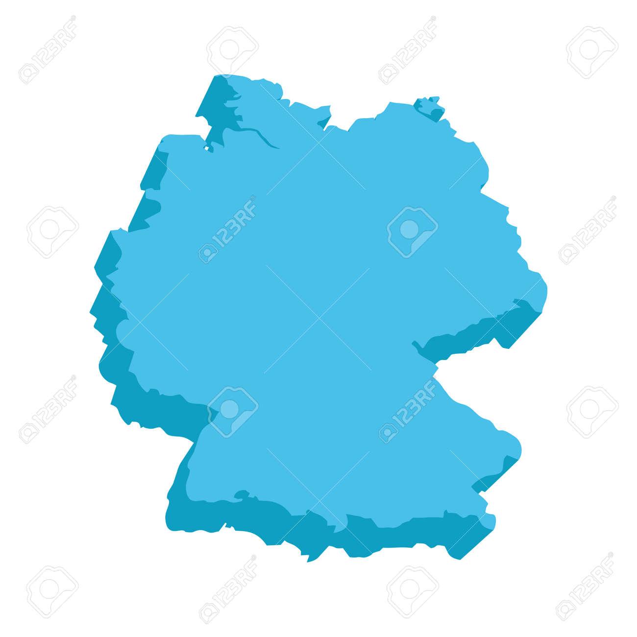 deutschland 3d karte Eine Karte Von Deutschland 3D Auf Weißem Hintergrund Lizenzfrei