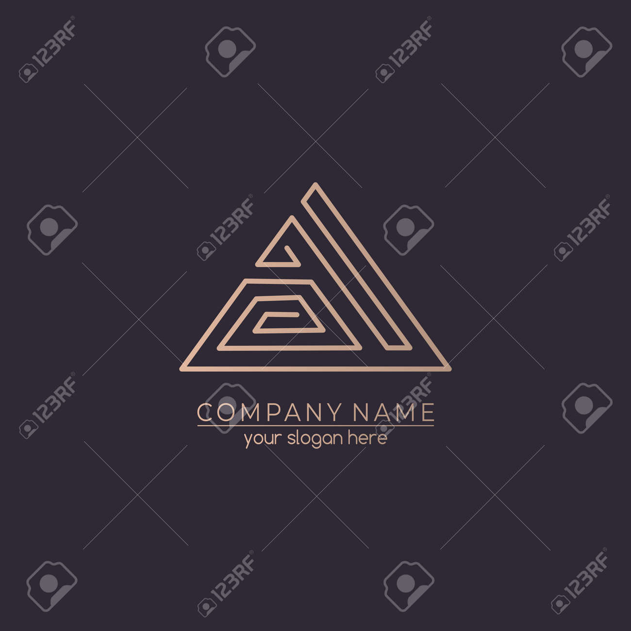 Letter logo or monogram. blank for business card. For your business. Vector sign. Luxurious linear creative monogram. - 141056879
