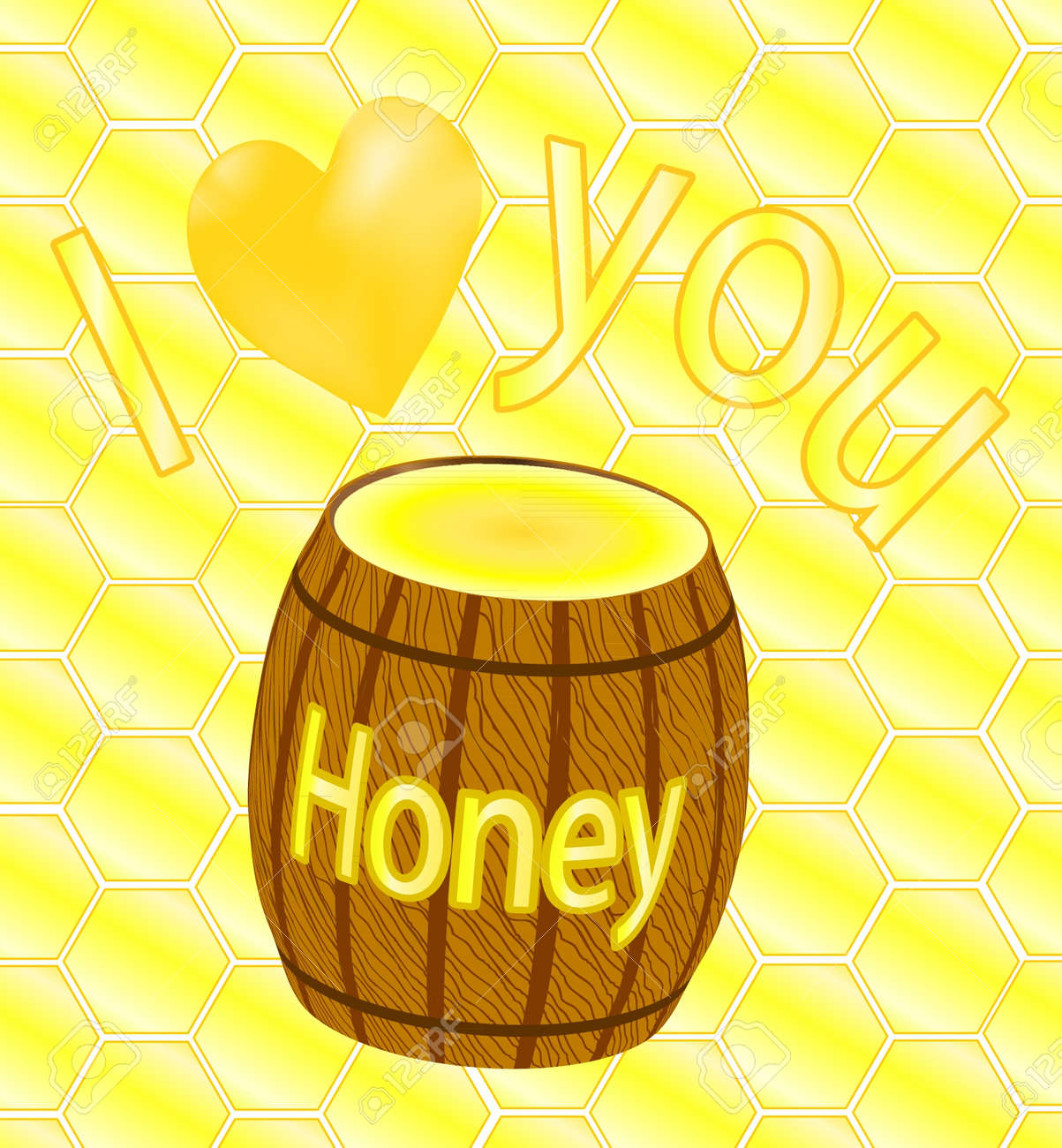 I love you honey Stock Vector - 10754725