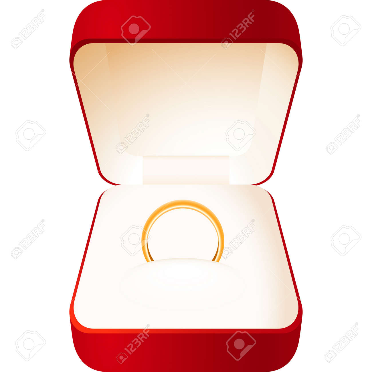 Jewelry Ring Box Clip Art Wiring Diagrams Hydra Under Microscope Labeled See Diagram 9377 Obelia Red With A Gold Wedding Royalty Free Cliparts Rh 123rf Com