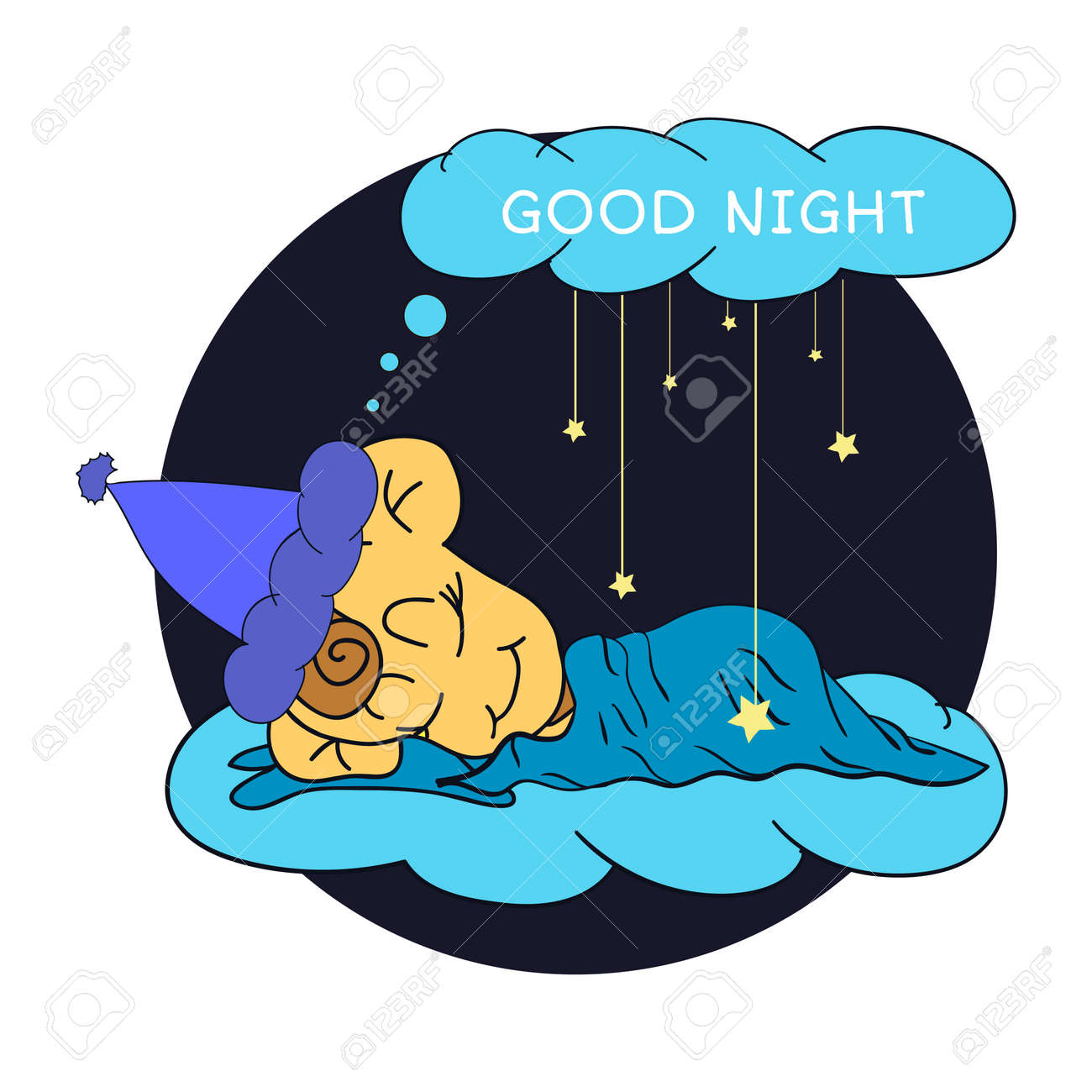 5 840 good night stock illustrations cliparts and royalty free rh 123rf com good night clip art animals good night clip art animals