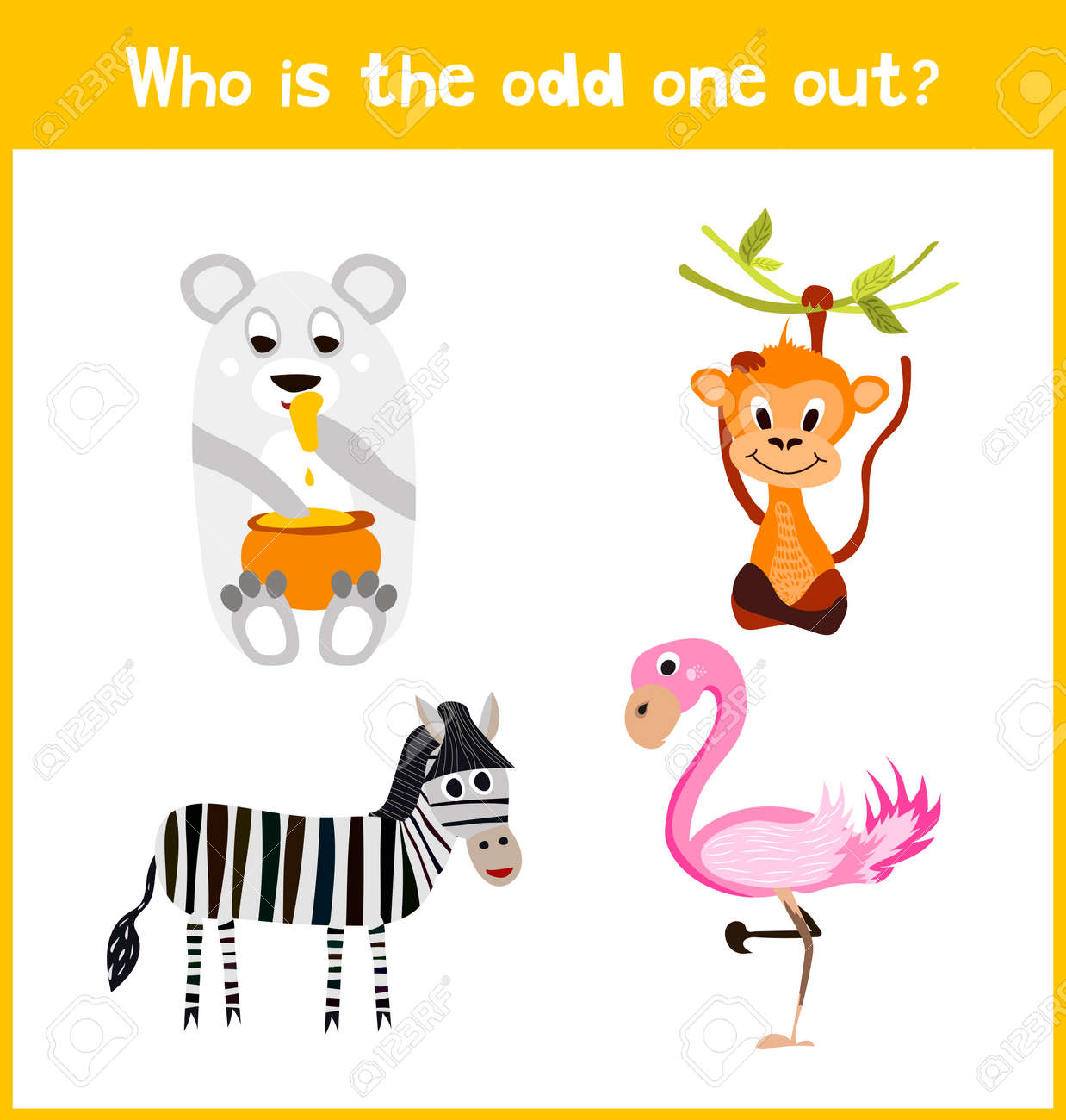 Ninos Pagina De Puzzle Juego De Dibujos Animados Coloridos