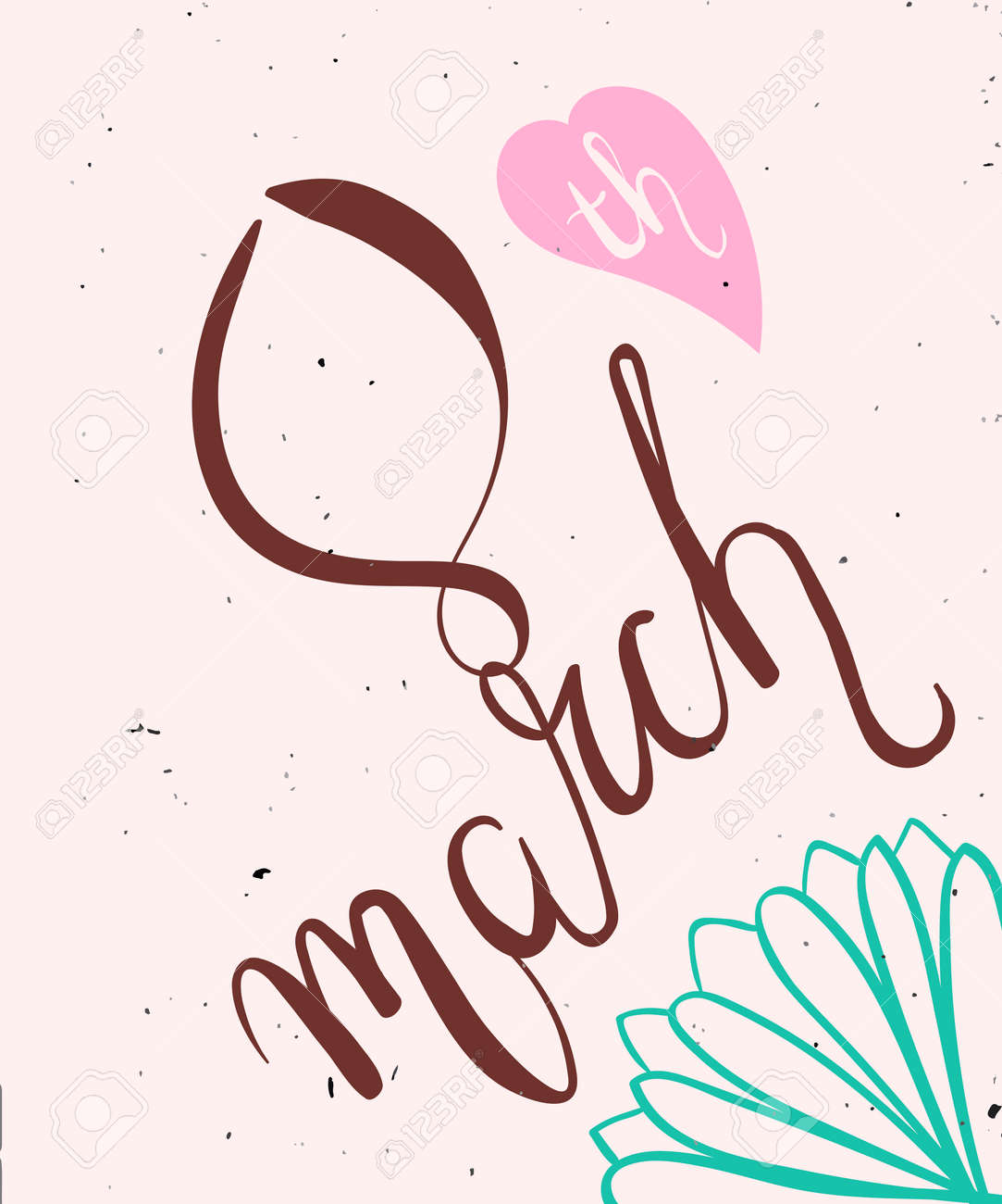かわいい春の女の子と女性のカラフルなイラスト3 月 8 日にお祝いの