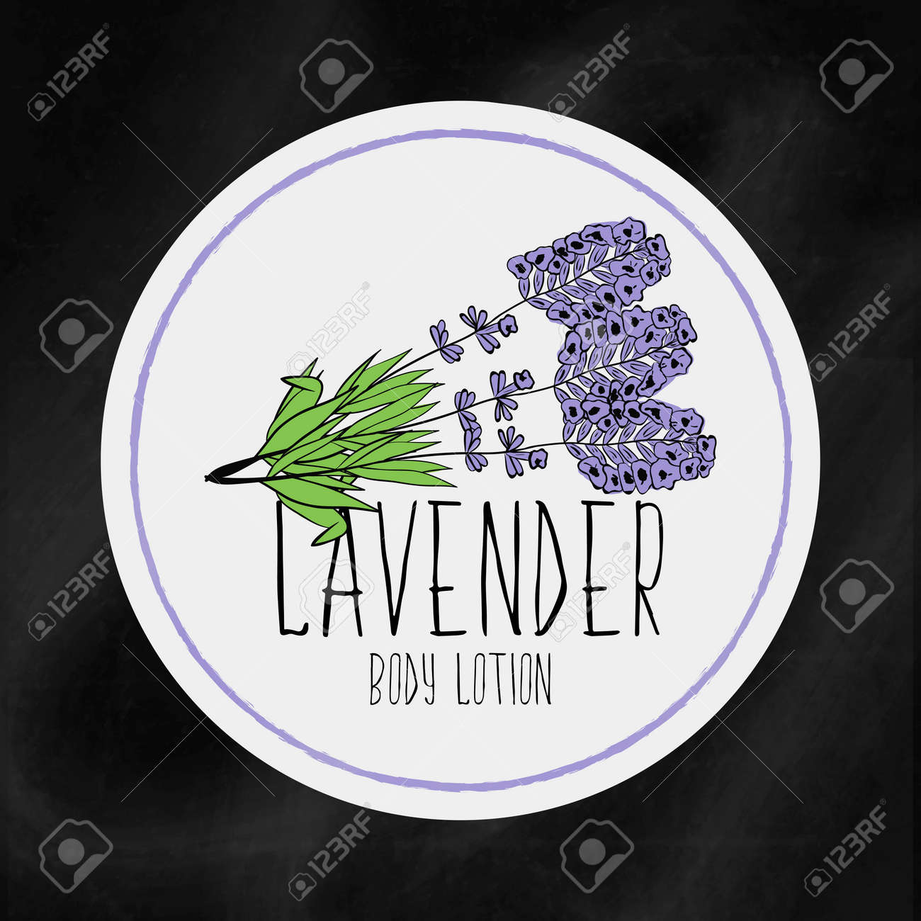 A Set Of Labels With Frames For Beauty And Health. Lavender ...