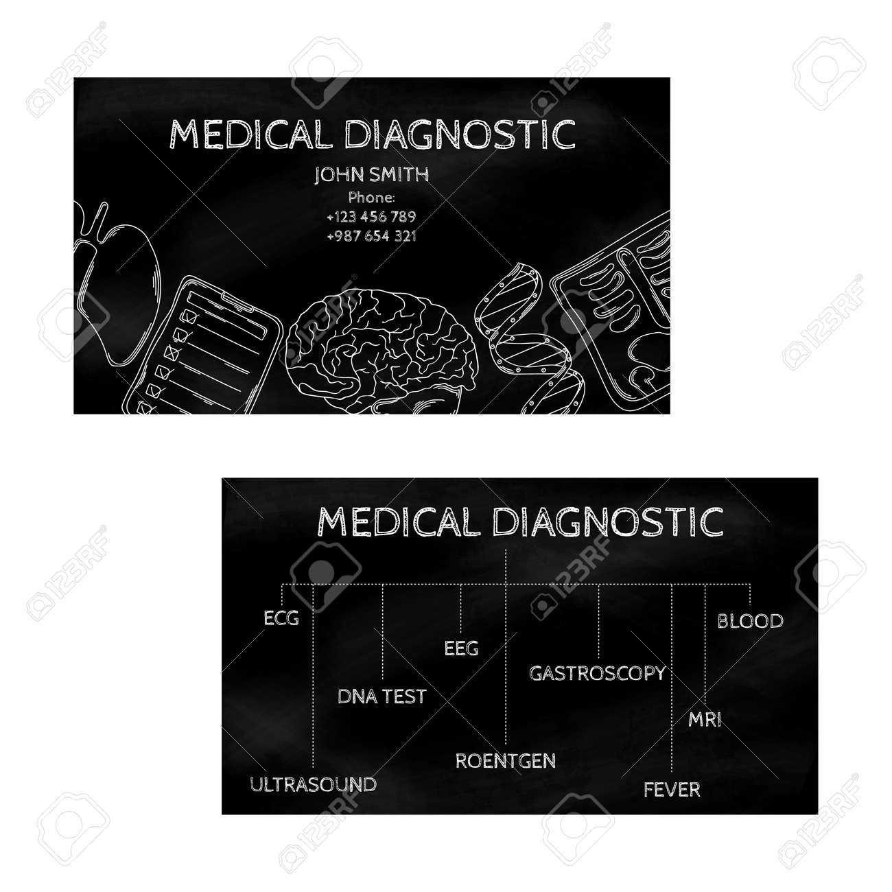 Template Professional Business Cards Black For Printing In The ...