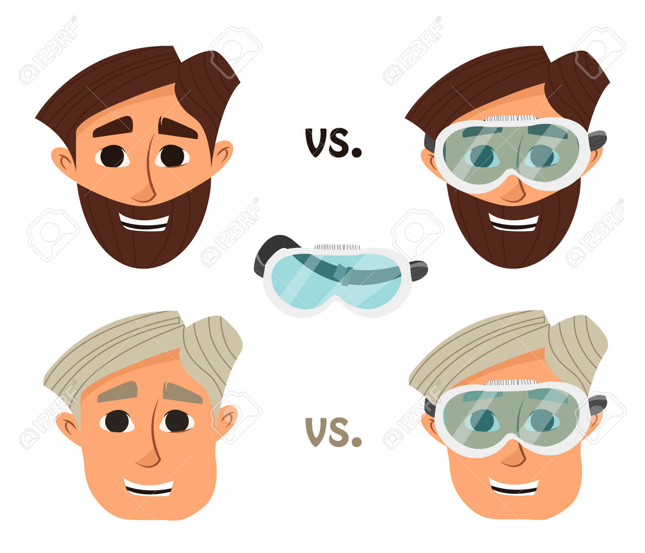 Researcher Research Laboratory Safety Glasses Or Goggles Illustration Royalty Free Cliparts Vectors And Stock Illustration Image 63905989