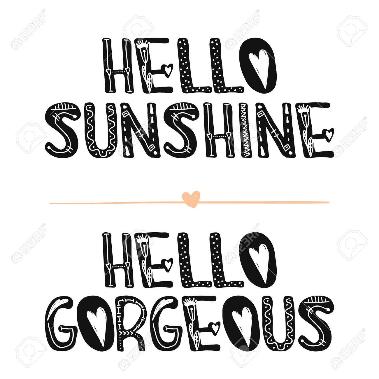 Hola Luz De Sol Hola Preciosa Frases Motivacionales Dulce Inspiración Linda Tipografía Caligrafía Foto Elemento Gráfico De Diseño Un Letrero