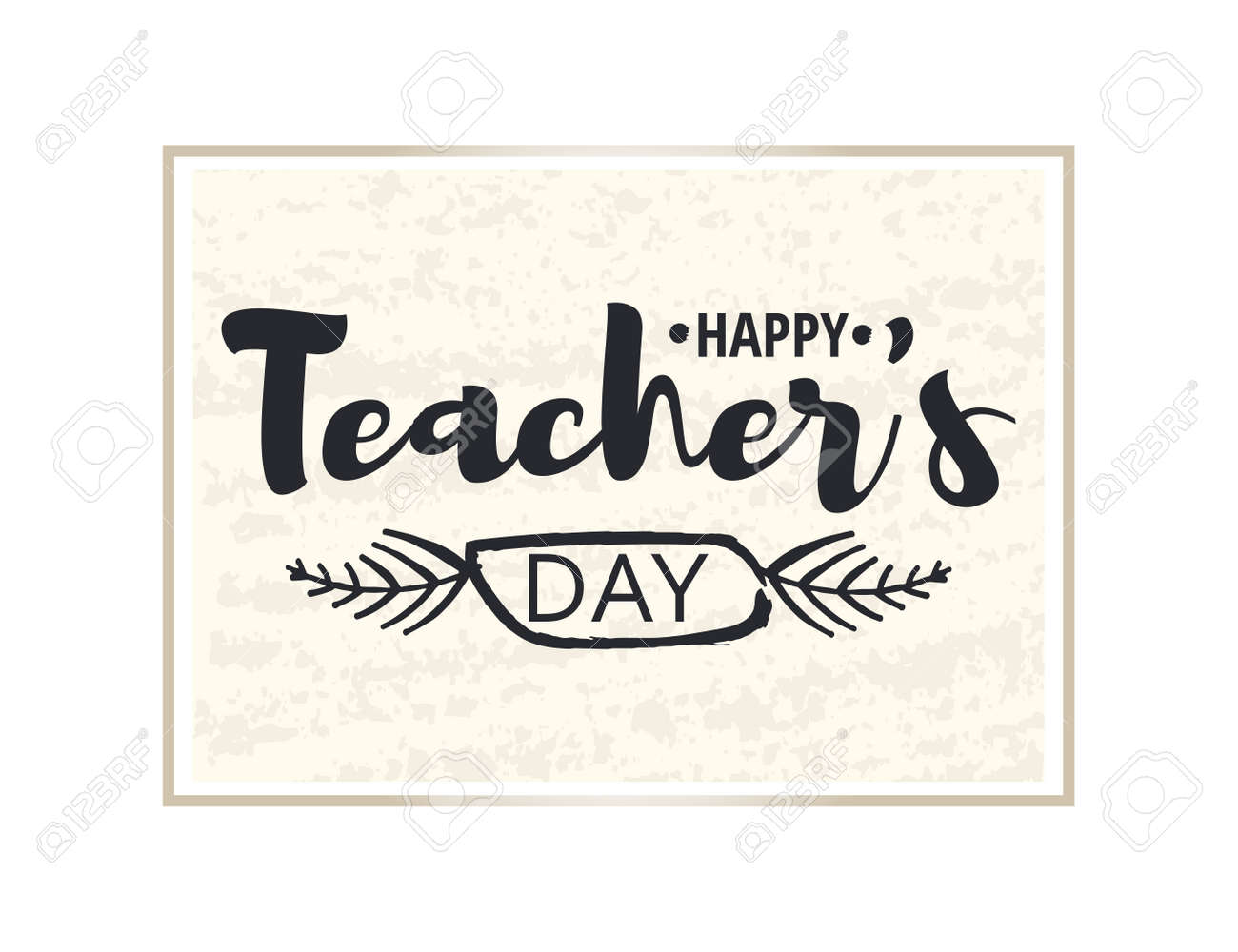 Happy teachers day greeting card brilliant frame with happy teachers day greeting card brilliant frame with congratulations to the day of teachers m4hsunfo