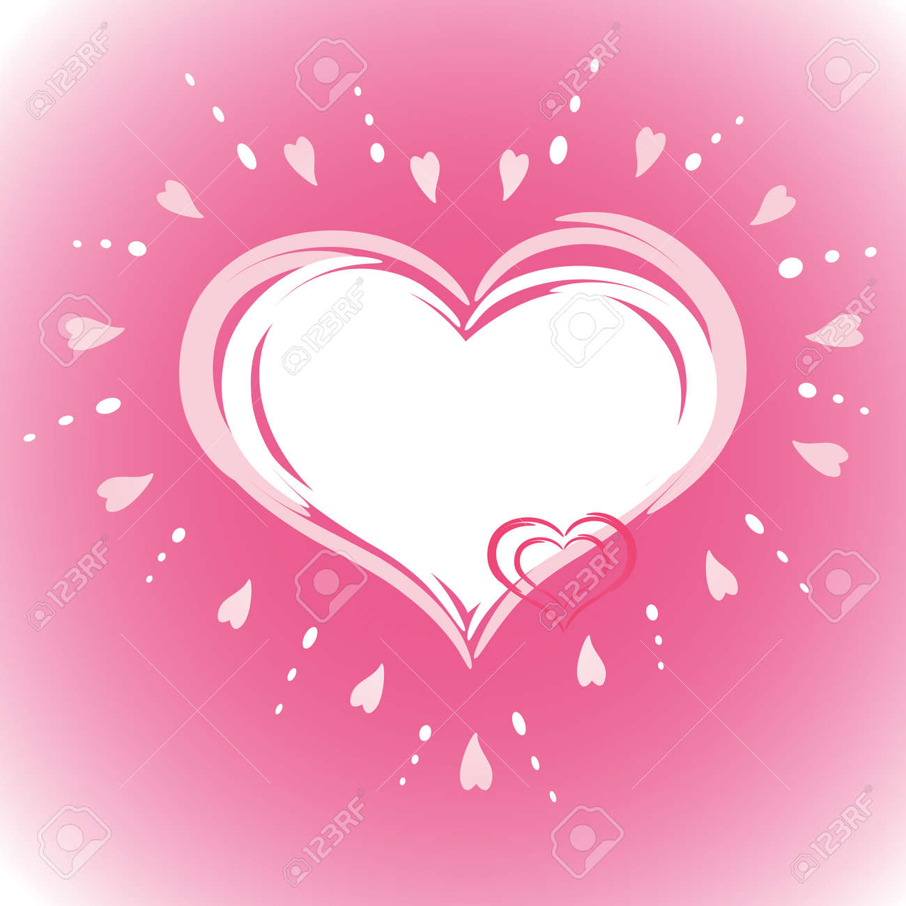 The valentine's day. Vector illustration. EPS8, all parts closed, possibility to edit. Stock Vector - 4008940