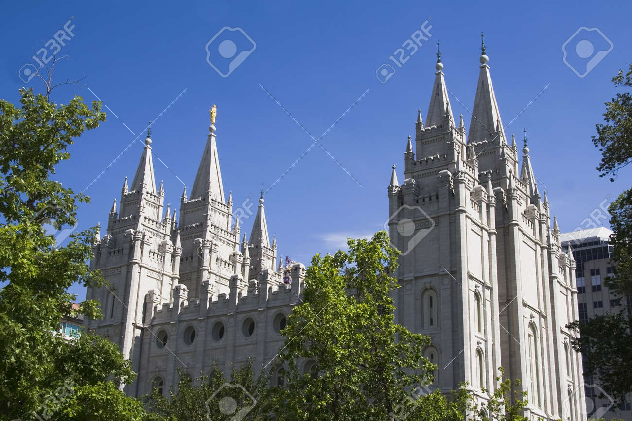 Salt Lake City Utah Mormon Church Of Jesus Christ Latter Day Saints Temple Stock