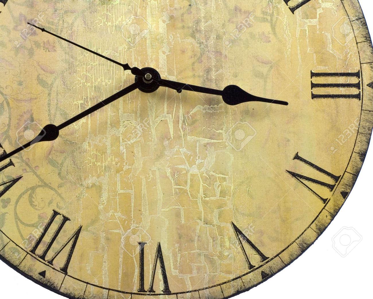 Old Style Runde Wanduhr Mit Römischen Zahlen Lizenzfreie Fotos