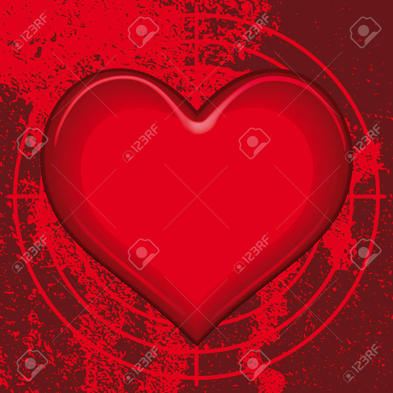 Vector heart for various designs. All objects fully editable and are on separate layers Stock Vector - 7326126