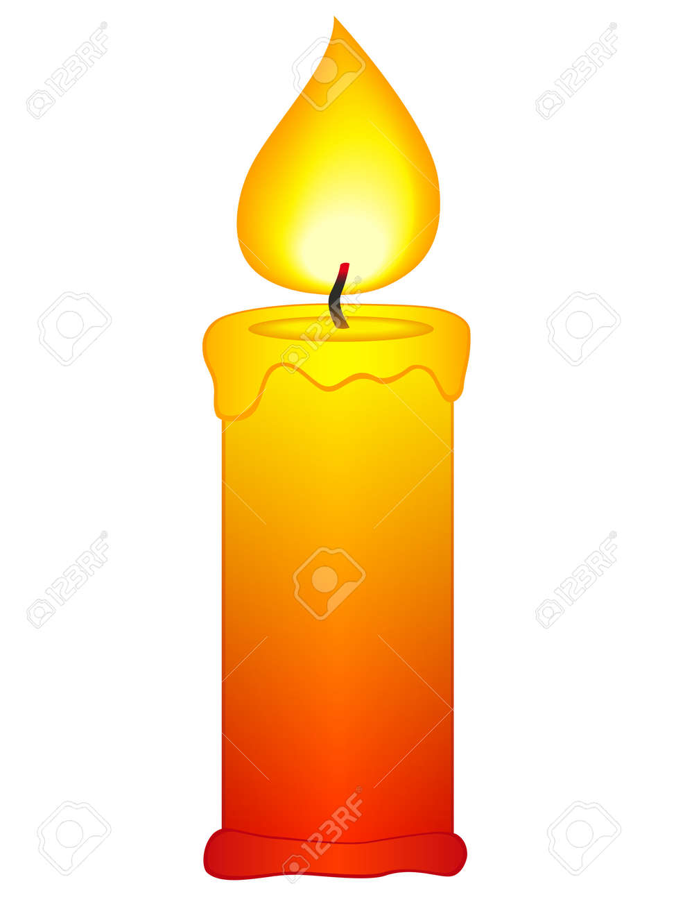 Candle Icon On A White Background Royalty Free Cliparts, Vectors ... for Fire Lamp Clipart  26bof