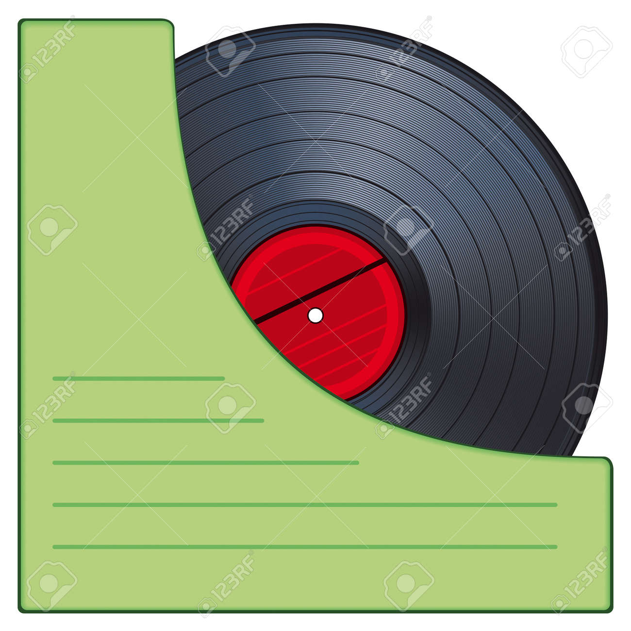 Gramophone disk in an envelope Stock Vector - 12940056