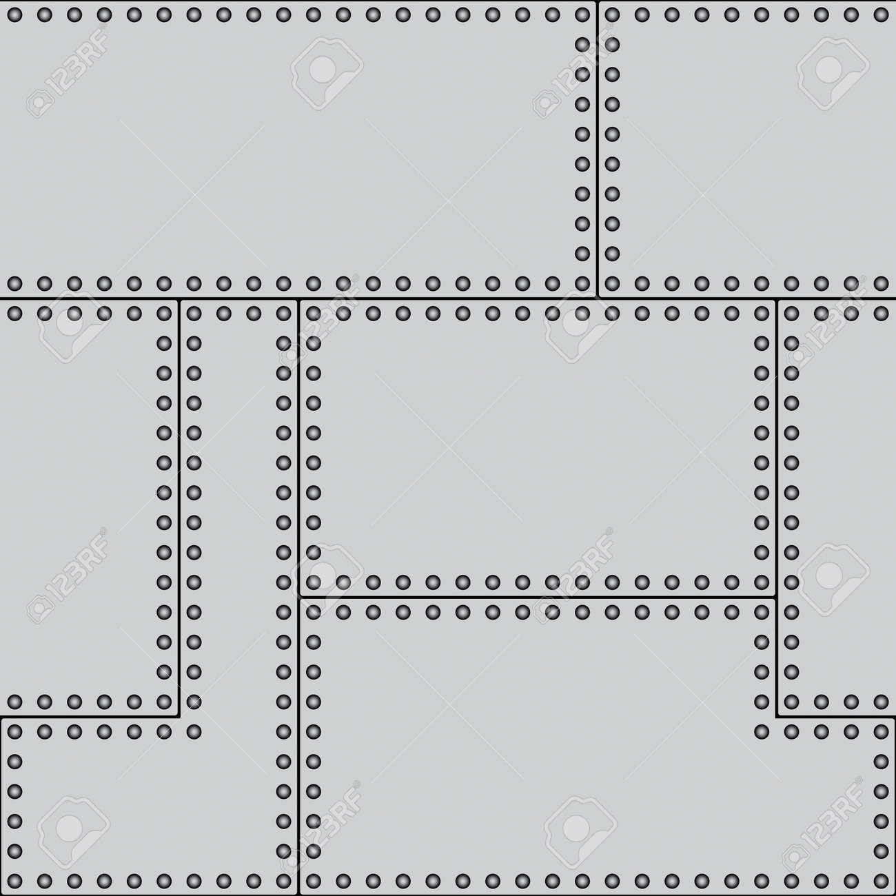 Seamless pattern of a riveted sheets Stock Vector - 12940013