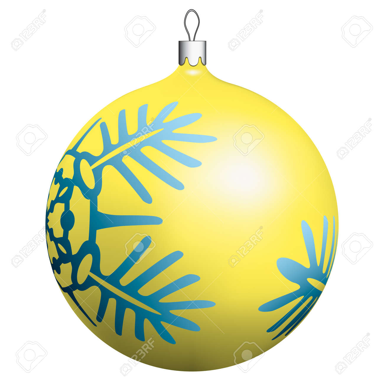 Christmas ball on white background Stock Vector - 13028617