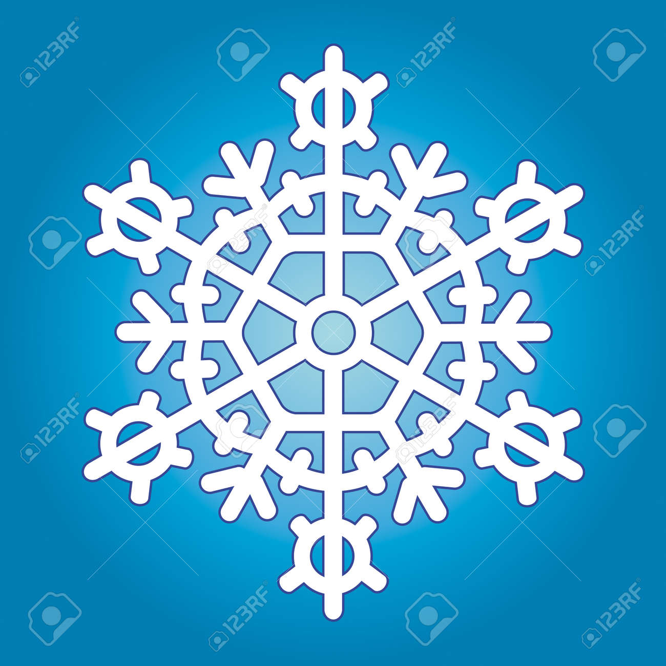 Snowflake for vector design Stock Vector - 13076150