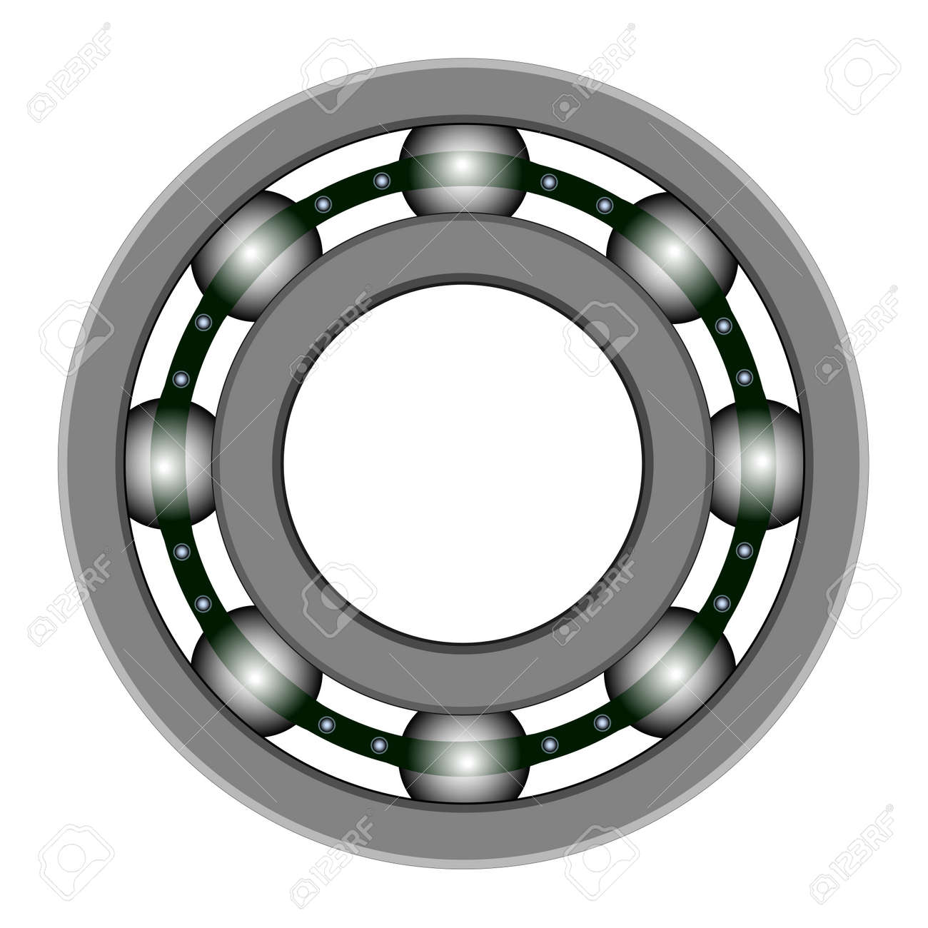 Ball bearing for vector design. Files included - EPS8, CS3, SVG, JPEG and PNG with a transparent background Stock Vector - 13107793