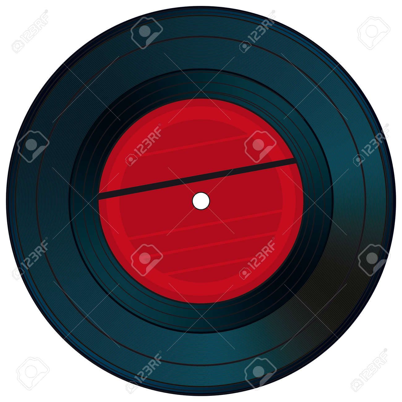 Gramophone disc on a white background Stock Vector - 13107803