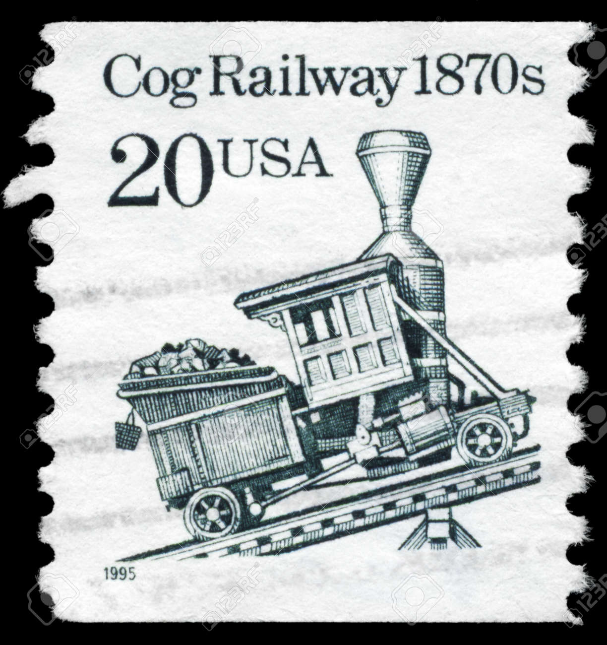 USA - CIRCA 1995: A Stamp printed in USA shows the Cog Railway, Transportation series, circa 1995 Stock Photo - 14986968