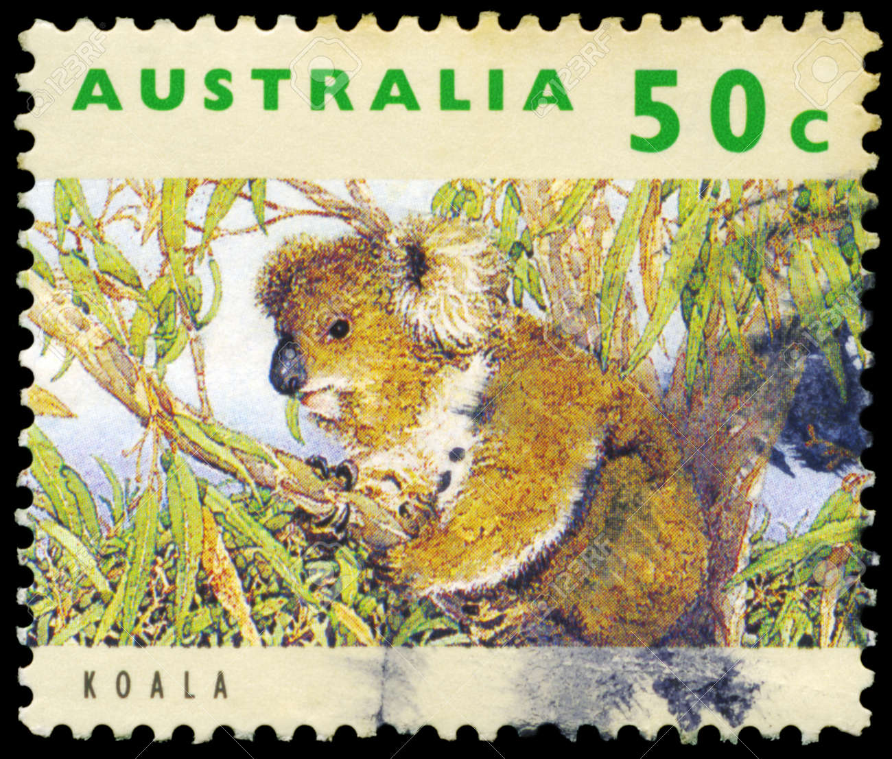 AUSTRALIA - CIRCA 1992: A Stamp printed in AUSTRALIA shows the Koala, series, circa 1992 Stock Photo - 16652253