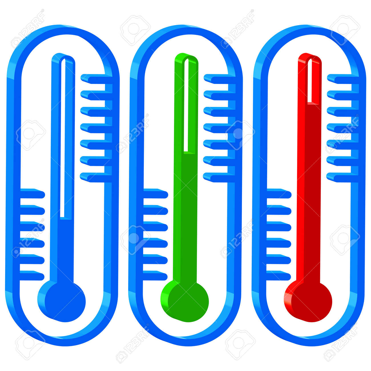 Thermometers icons for various design Stock Vector - 21319274
