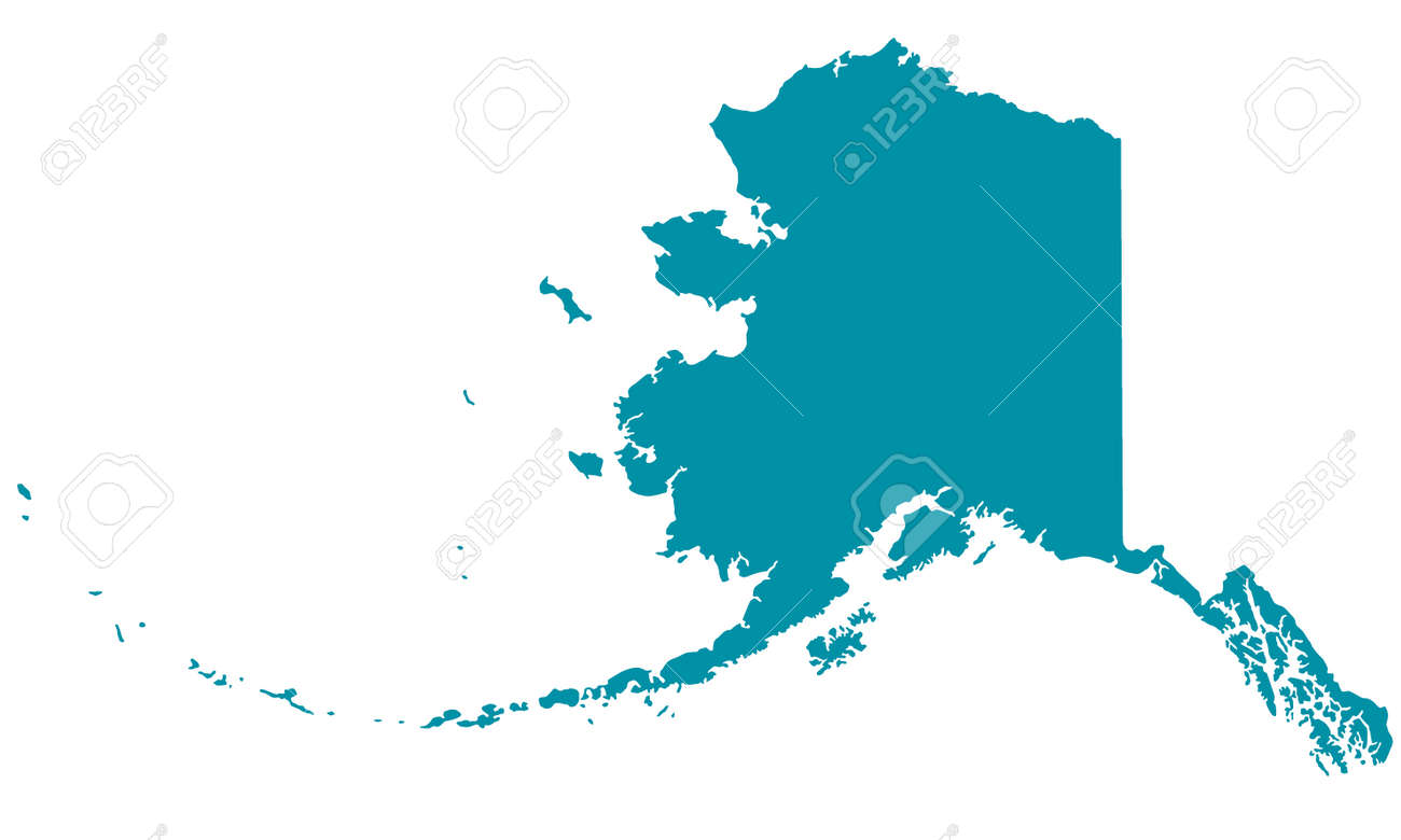 Silhouette Map Of The Alaska Royalty Free Cliparts Vectors And